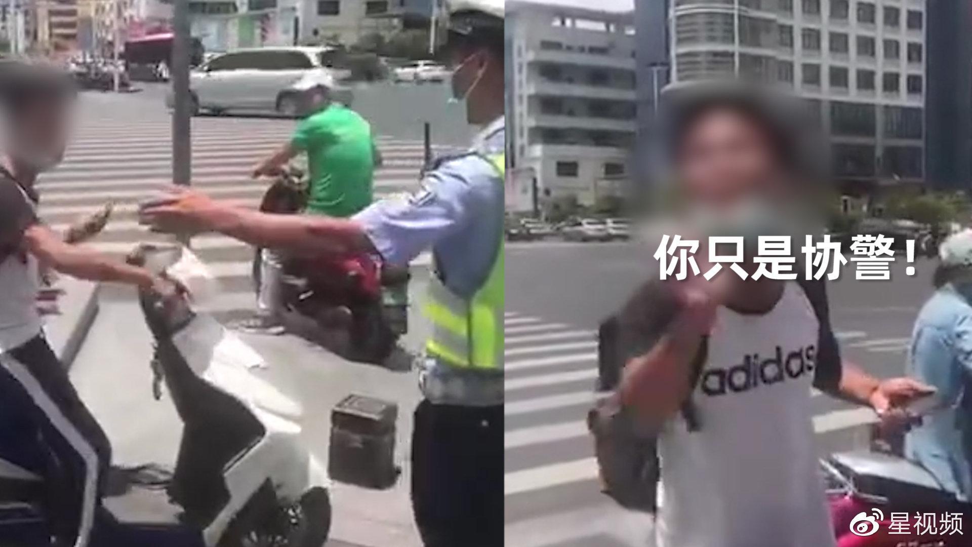 男子骑电瓶车不按交规行驶被拦下……