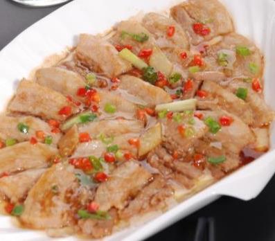 浇汁木瓜,花生糯米糍,虾酱蒸五花肉,易操作好味道