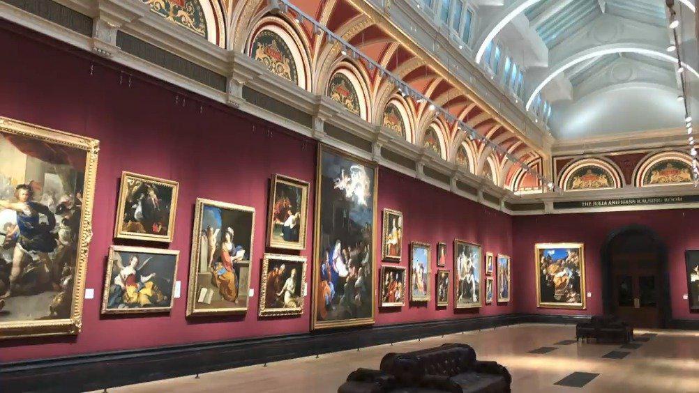 英国国家画廊修缮、装饰其最大展厅并重新对公众开放的介绍视频