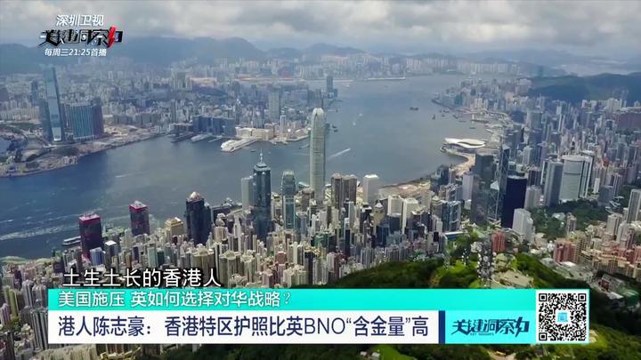 """港人陈志豪:香港特区护照比英BNO""""含金量""""高"""