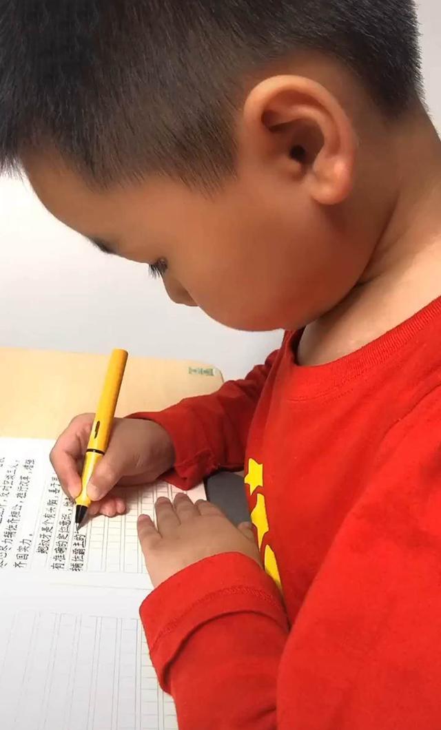 高考作文一出,妈妈也让8岁儿子写了一篇,网友看后:字很漂亮