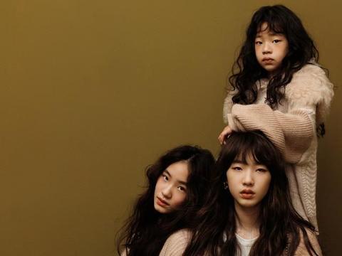 小S三女儿合体拍大片,许曦文超模范许韶恩乖巧恬静,风格大不同
