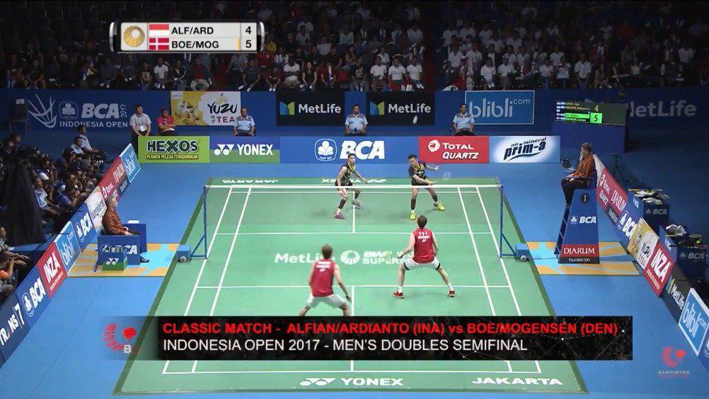 回顾一场精彩比赛 2017印尼赛 鲍伊/摩根森2-1阿尔菲安/阿迪安托……