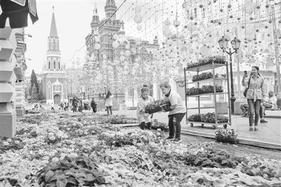 莫斯科古姆百货商场 举办花卉节