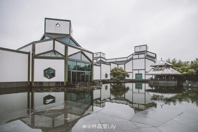 """苏州博物馆的新馆是""""现代主义建筑大师""""贝聿铭给家乡的礼物……"""