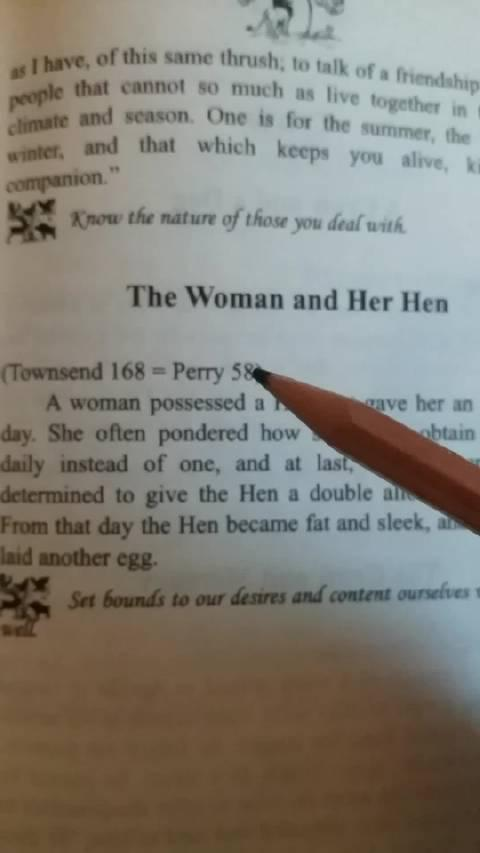 日常,第一段伊索寓言《女人和母鸡》 能不能让母鸡一天下两个蛋?