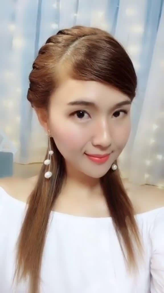 斜刘海能修饰脸型,特别是圆脸