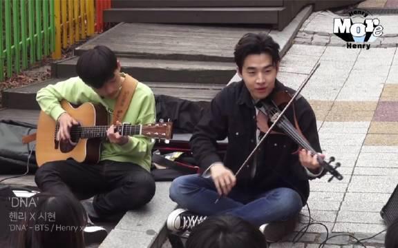 Henry刘宪华与吉他天才Sean路演BTS《DNA》iKON《Love scenario》