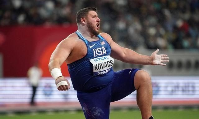 2米01壮汉名将大迸发!田径铅球赛22米91夺冠 东京奥运将力求卫冕