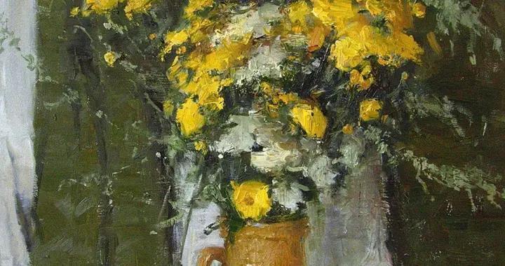 俄罗斯画家马克西姆·格拉德科花卉与静物油画作品欣赏(上)