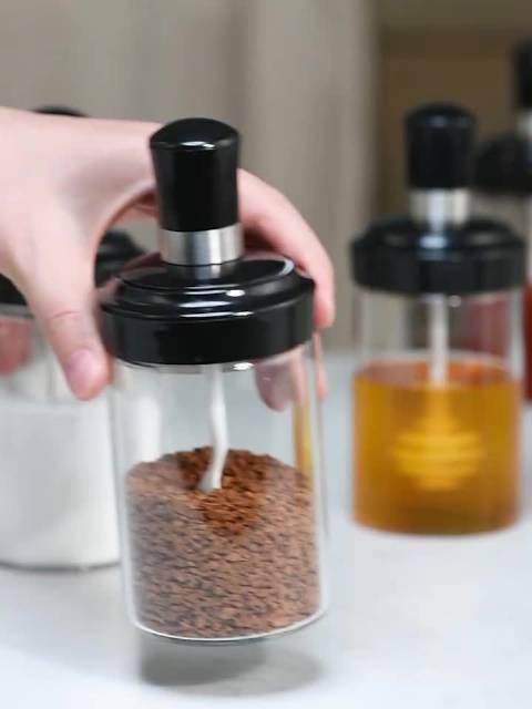 防潮玻璃调料盒250ml 耐冷耐热的~玻璃调料盒! 防潮食品硅胶圈……
