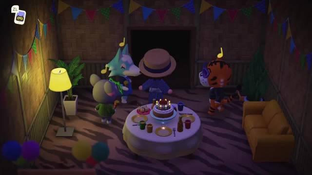 赶在最后几十分钟和小动物过 然后kk唱生日歌的时候会出来每个小