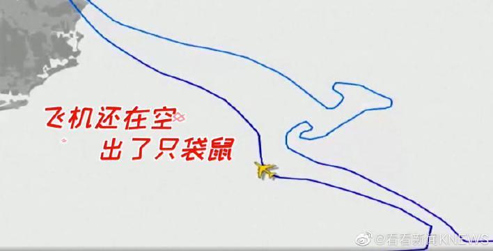 """空中""""画""""一个袋鼠 澳航最后一架747客机宣告退役"""