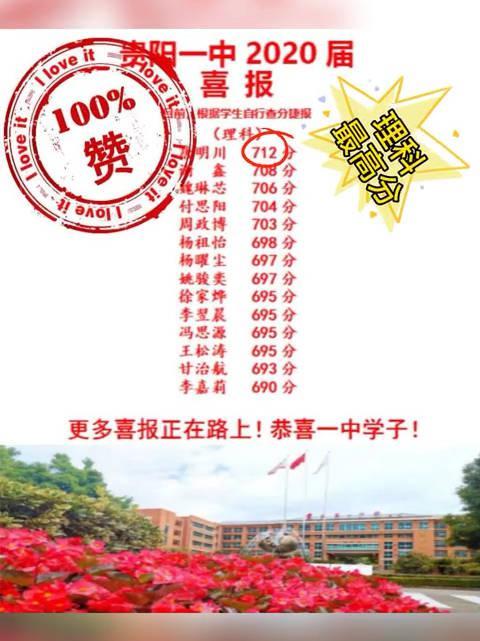 2020贵州高考,理科状元来自贵阳一中……