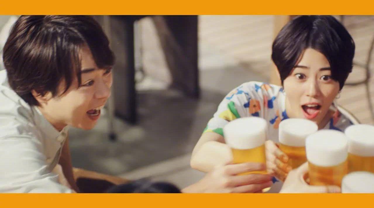 朝日啤酒最新CM,櫻井翔×高畑充希「夏天·回锅肉炒面」篇……
