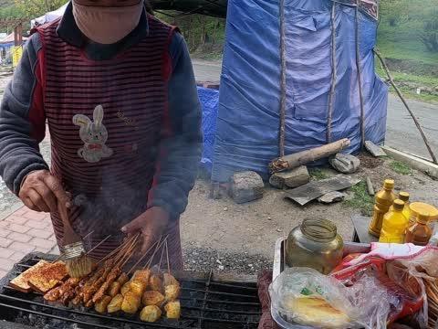 一人一狗自驾去西藏,317川藏线路边吃烧烤被骗,看看是怎么回事