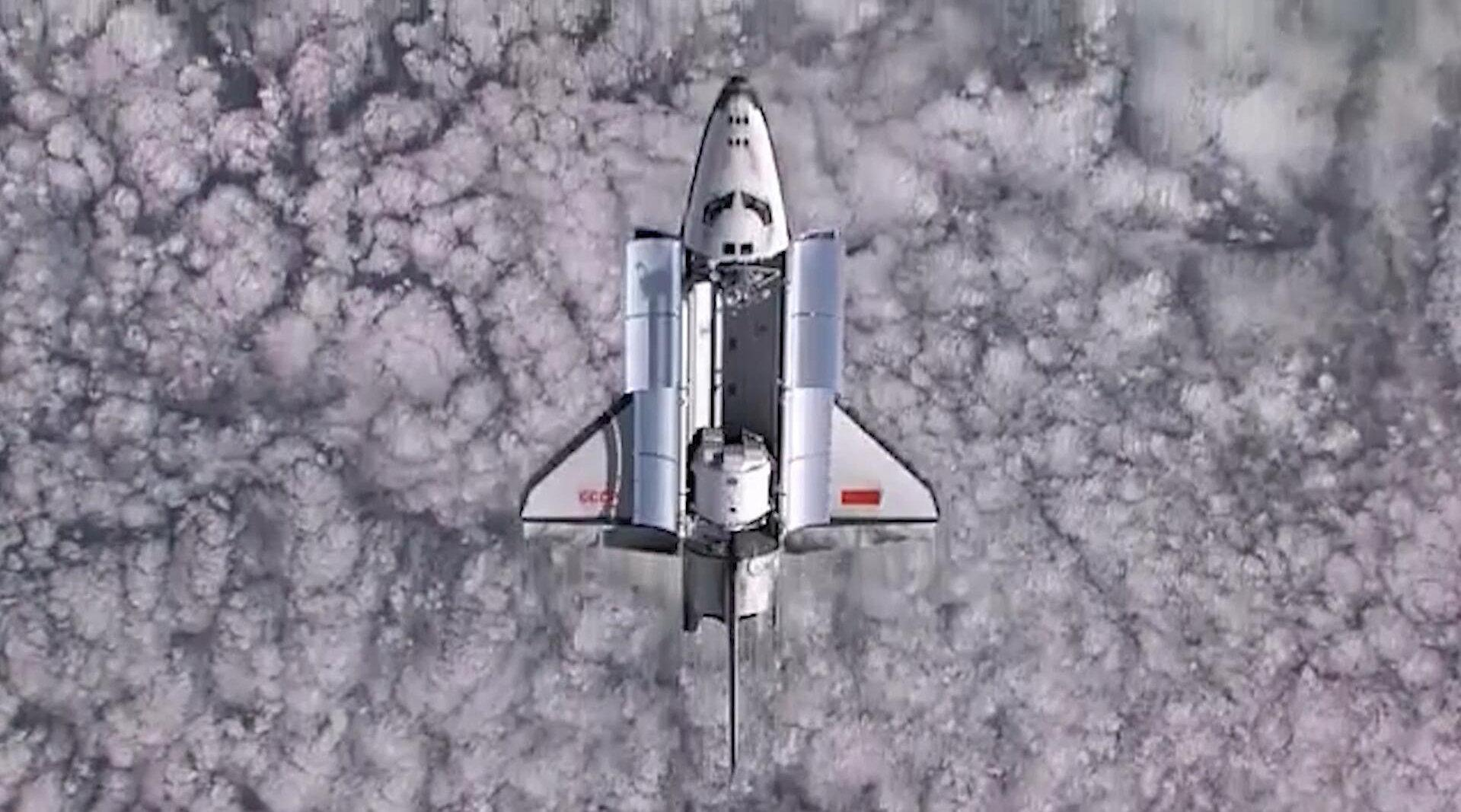 极其珍贵的影像之一,前苏联暴风雪号航天飞机,唯一一次太空之旅