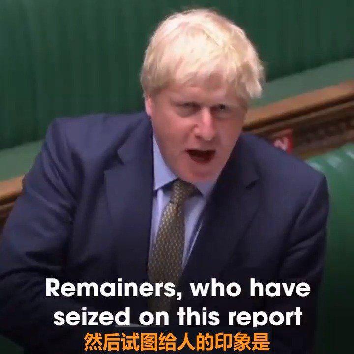 看看英国首相鲍里斯约翰逊在议会发言的时候多么激动……