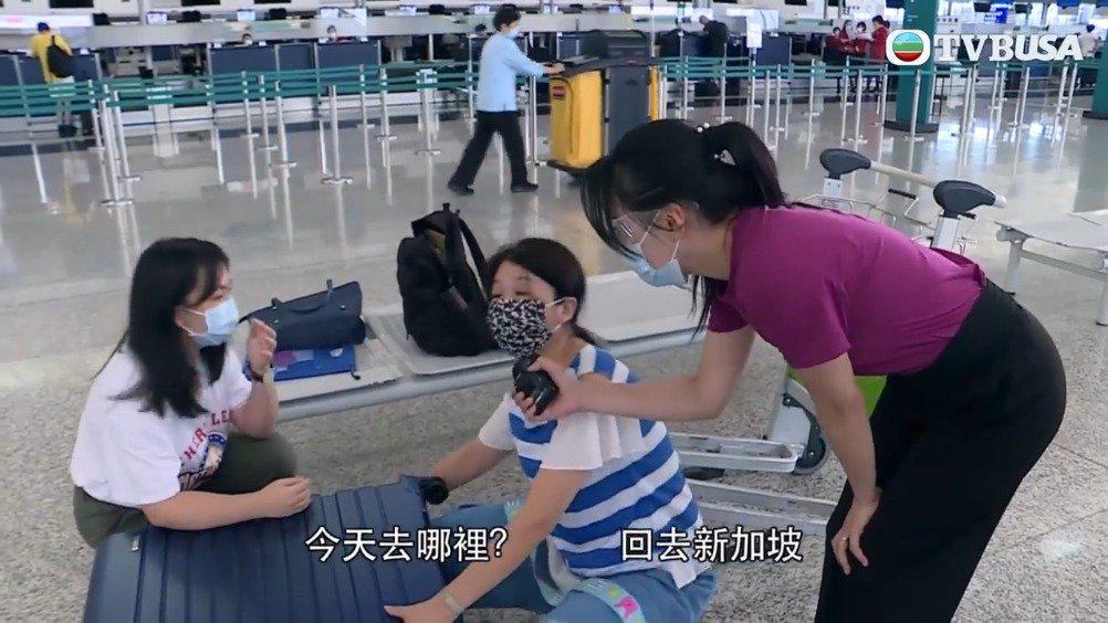 疫情下的香港机场