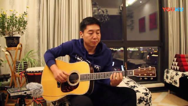 《广东爱情故事》吉他弹唱,很有磁性的声音,有点好听!!