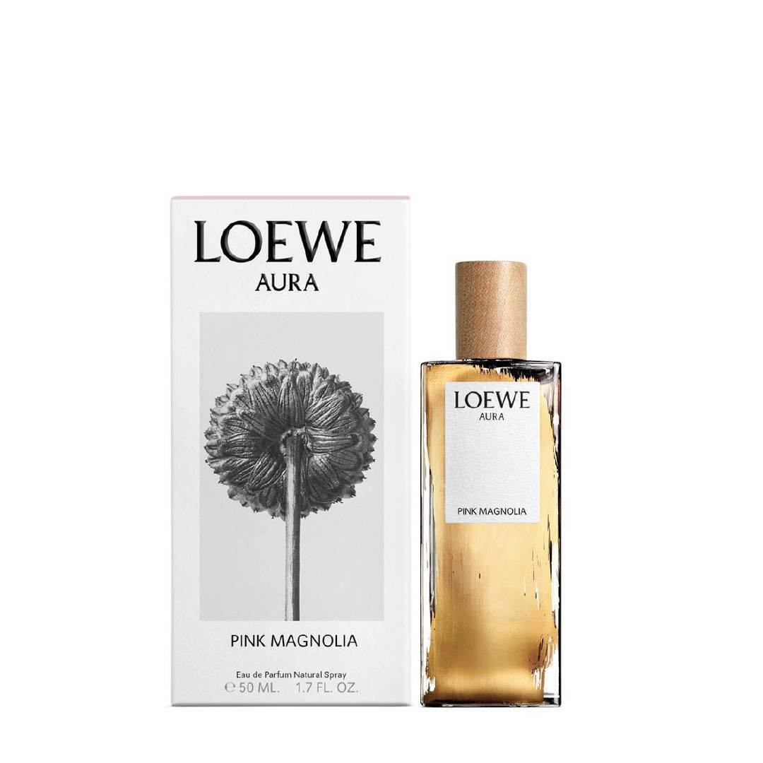 LOEWE   光之缪斯粉色木兰花女款香水 罗意威的新品香水瓶身外观
