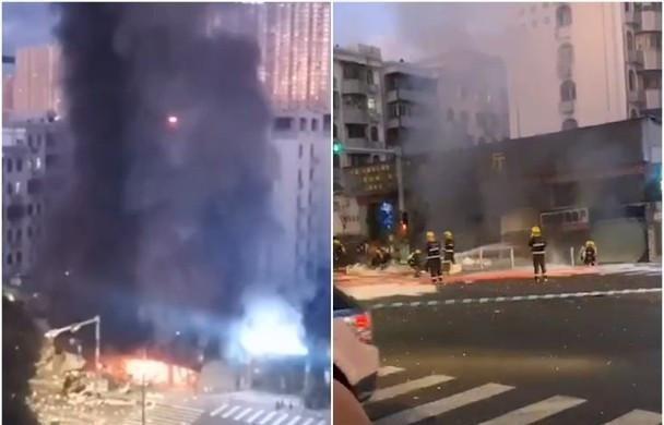 刚刚!深圳烧腊店疑漏煤气爆炸起火,邻近商铺损毁严重