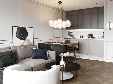 小户型房子装修,这样装一点空间都不浪费,质感不比大户型差!