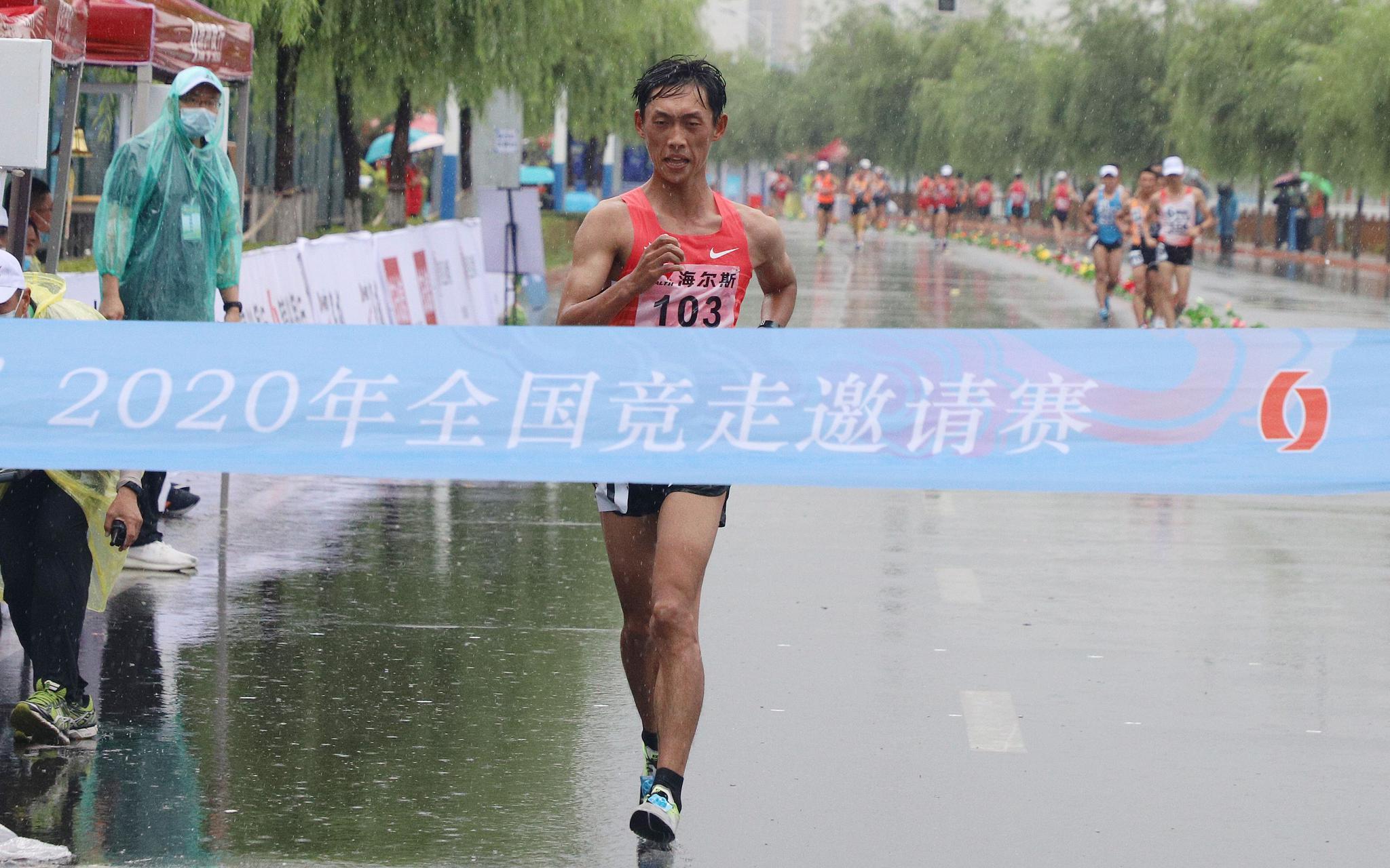 复工后首场竞走赛事鸣枪,杨家玉轻松夺冠图片