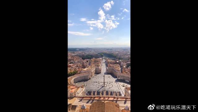 鸟瞰梵蒂冈城罗马教廷,是我没见过的建筑风格