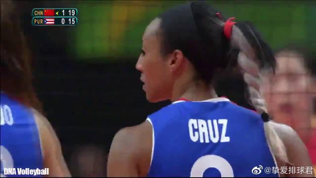 克鲁兹!34岁的她与波多黎各女排一道首次亮相奥运赛场!