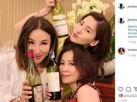 """壕!刘嘉玲约周汶锜聚会品葡萄酒,三姐妹一晚""""喝""""掉两套房"""