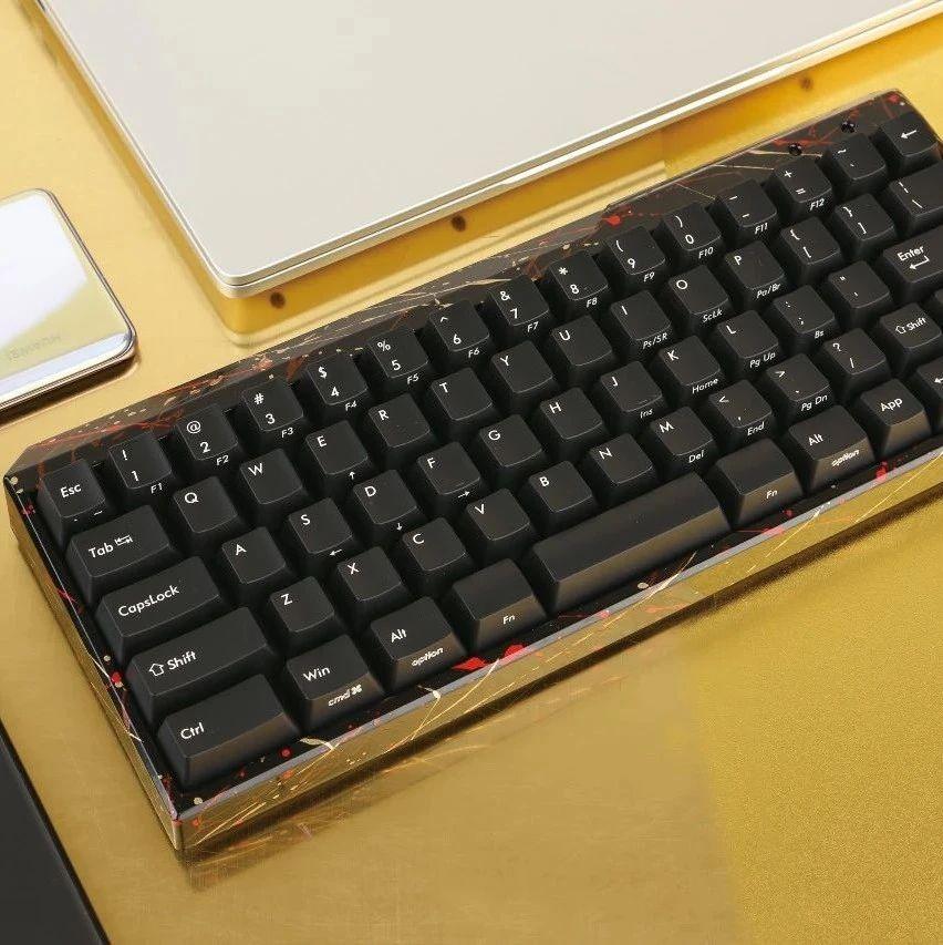 小而美,斐尔可迷你啦花纹黑蓝牙机械键盘