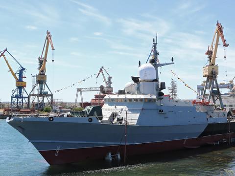 俄最新战舰下水,吨位不及056火力超052D,却存在致命缺陷