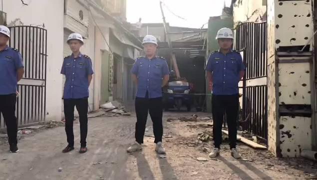 临汾市区一处500平米违建被拆除
