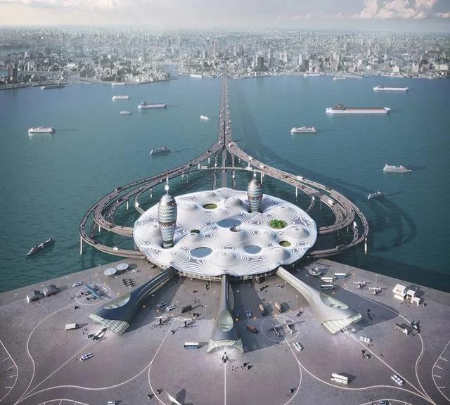 """""""航天港""""——日本的一个未来派交通枢纽"""