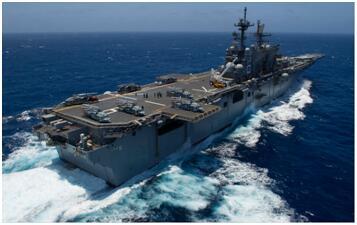 """美海军""""美利坚""""号两栖袭击舰资料图"""