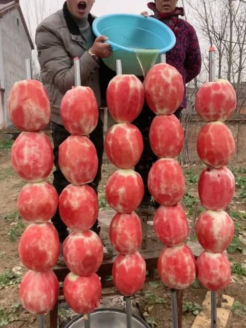 每一串糖葫芦50斤吃货张磊吖农村孩子王