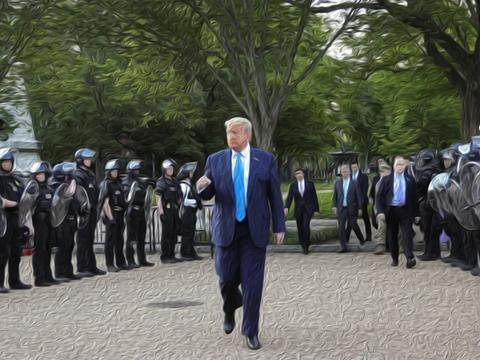 """数千名""""起义军""""黑人武装在芝加哥抗议,特朗普将阻止美国移民"""