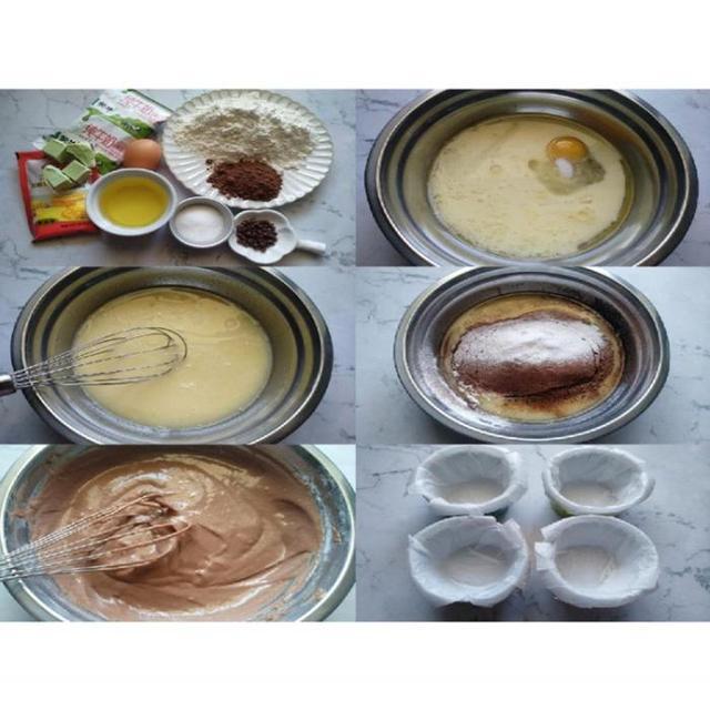 一口爆浆巨好吃-会流心的巧克力马芬杯蛋糕,烘焙小白都可以搞定