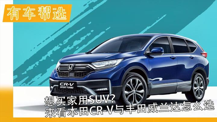 视频:想买家用SUV?来看本田CR-V与丰田威兰达怎么选