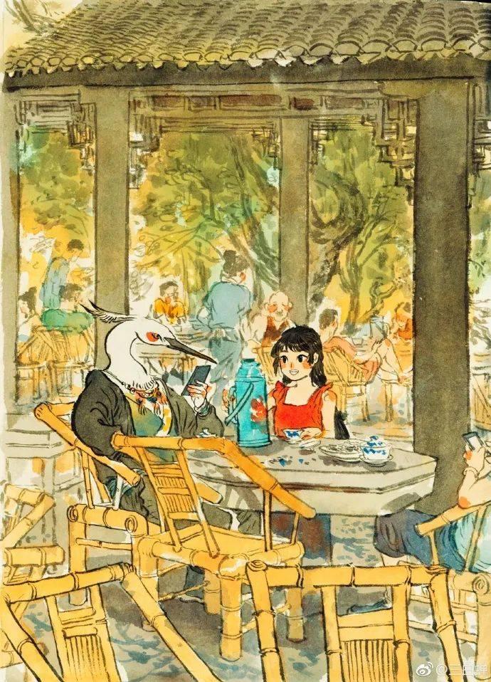 """清华才女在纸上画""""野生神仙"""",绝美水墨画引全网点赞!"""