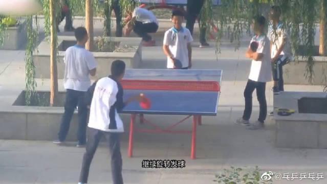 大佬解说校园乒乓球,都这么暴力?难怪没有对手!