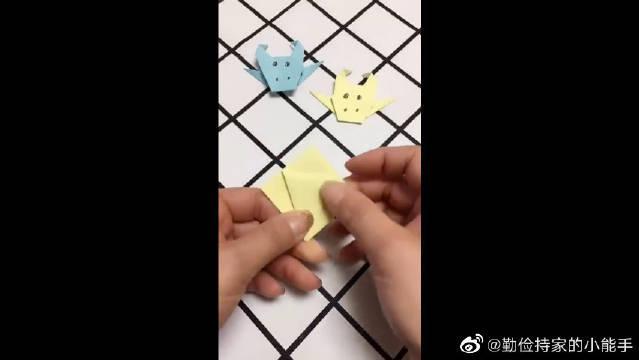 折纸牛魔王,看起来是不是很可爱,动起小手来吧