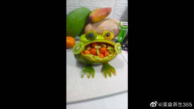 木瓜小青蛙,可可爱爱都不舍得吃了呢