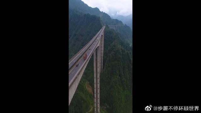 雅西高速腊八斤特大桥,亚洲第一高墩……