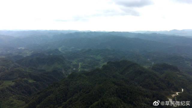 实拍云贵高原,深山里壮观的山沟沟,我的祖国壮丽山河