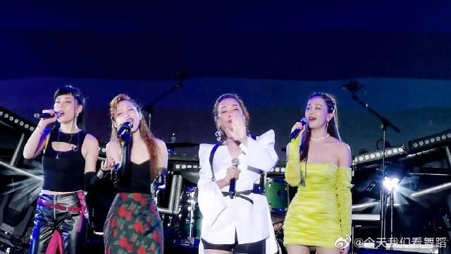 芒果音乐节,乘风破浪的姐姐们几位姐姐好开心