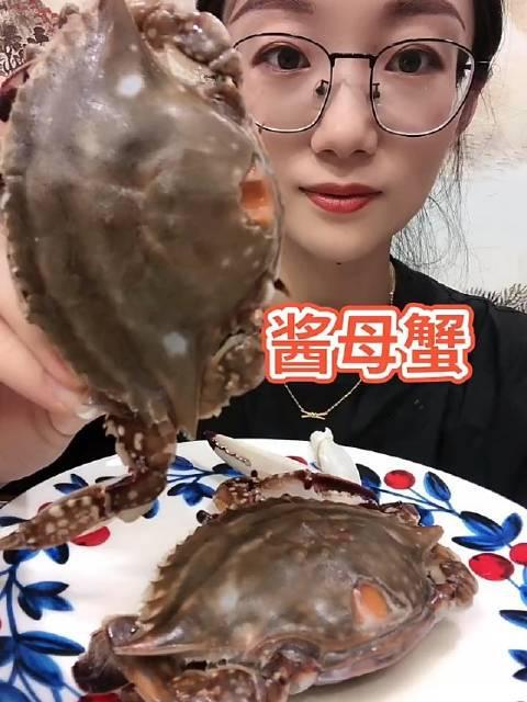 海鲜吃播 贝乐歌 酱母蟹