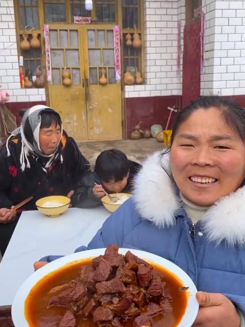 自制酱焖牛肉农村会姐