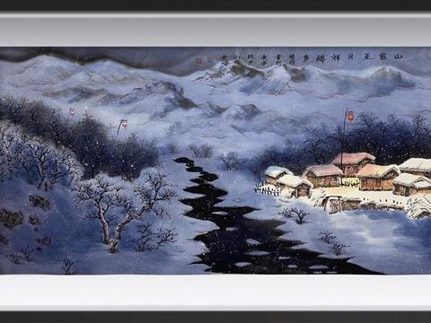 书画家吴晓丹的一场水墨雪